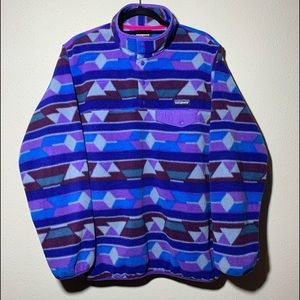 PATAGONIA Womens Large Synchilla Snap Pullover